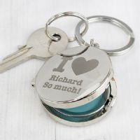Personalised I heart Photo Keyring - ideal gift for the one you love for Valentine's, Birthday, Christmas